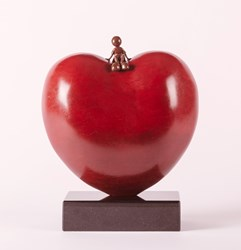 Sitting On Love by Mackenzie Thorpe - Bronze Sculpture sized 10x13 inches. Available from Whitewall Galleries